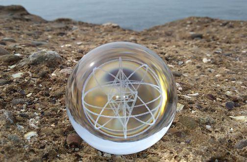 Кристалл для медитации круглый